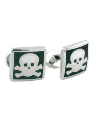 Skull & Crossbone Sterling Cufflinks