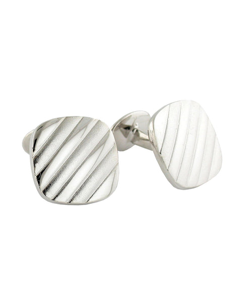 CL188502 | Sterling Silver Cushion Cufflinks