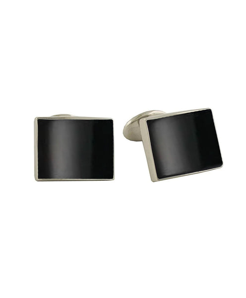 CL550502 | Sterling Silver & Onyx Cufflinks