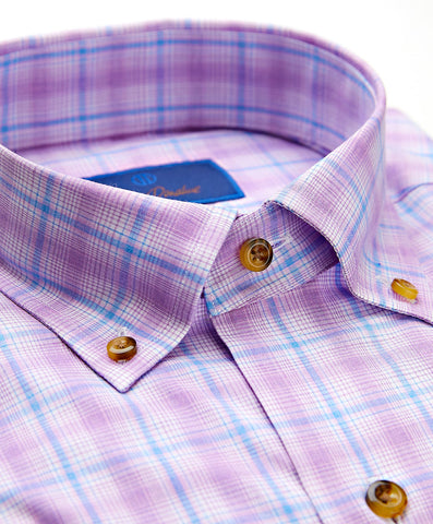 Melange Plaid Sport Shirt