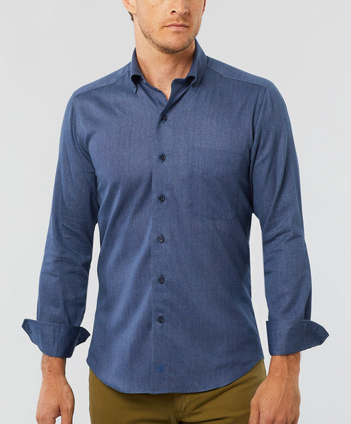 CMCBD2109423 | Blue Oxford Print Sport Shirt