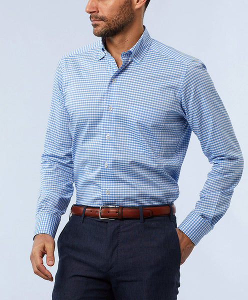 Textured Classic Gingham Sport Shirt