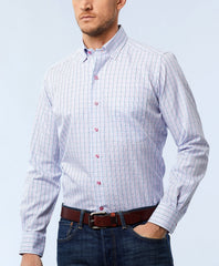 Mini Tattersal Basket Weave Sport Shirt