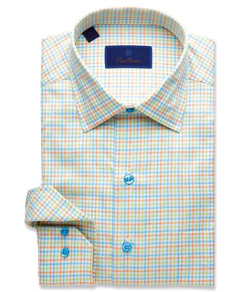 CMCSM1863459 | Bright Outlined Tattersall Sport Shirt