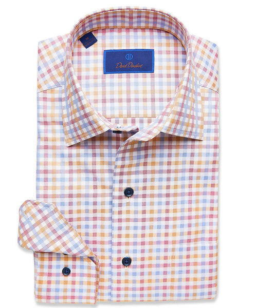 CMCSM2612614 | Merlot & Gold Harvest Check Sport Shirt