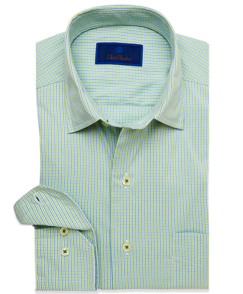 CMCSM3648327 | Green Micro Check Performance Sport Shirt