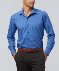 Garment Washed Spread Collar Sport Shirt