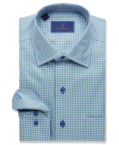 Sky Ground Modern Gingham Sport Shirt