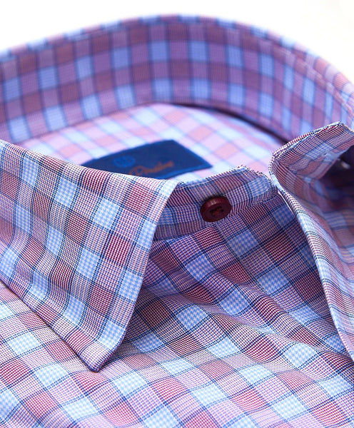 CMSM01840545 | Plum & Sky Plaid Performance Sport Shirt