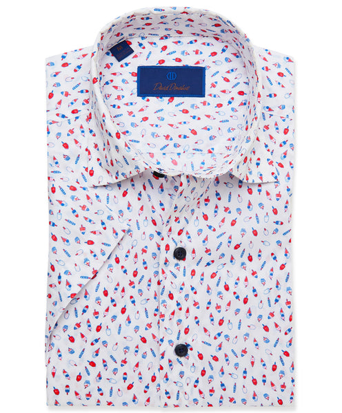 CSHSM3006135 | Popsicle Print Short Sleeve Sport Shirt