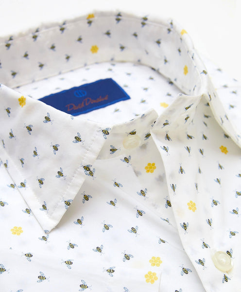 CSHSM3009175 | Bee Printed Short Sleeve Sport Shirt