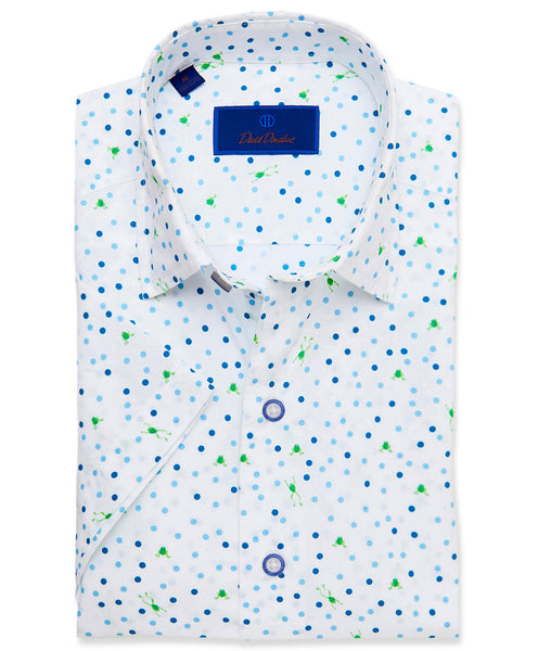CSHSM3301135 | Frog & Dot Print Short Sleeve Sport Shirt