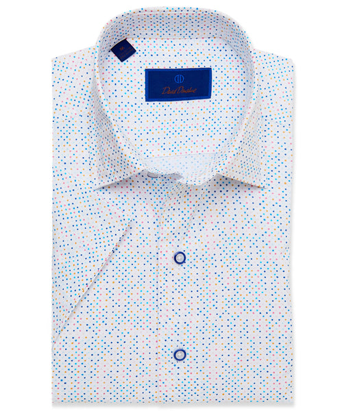 CSHSM3302135 | Mutli Color Dot Short Sleeve Sport Shirt