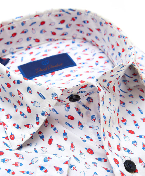 CSSM02010135 | Popsicle Print Short Sleeve Sport Shirt