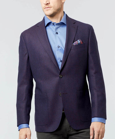 Aiden Wool Merlot Sport Coat