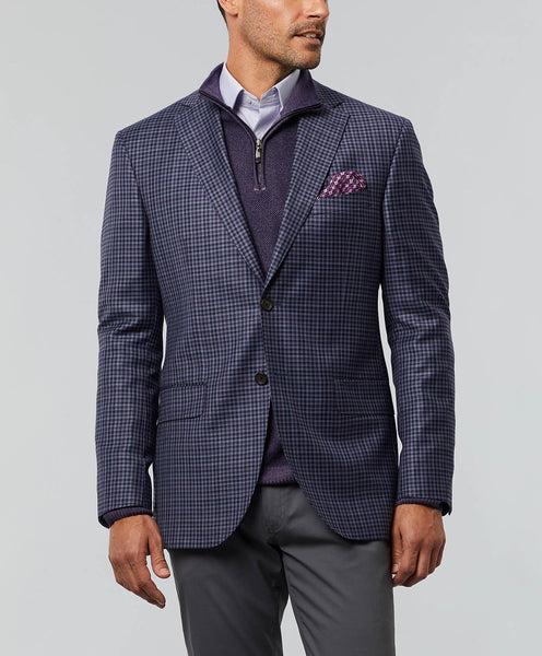 The Connor Super 130's Wool Check Sport Coat
