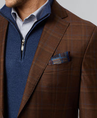Arnold Super 130's Wool Windowpane Sport Coat
