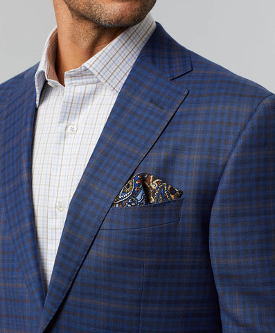 Connor Super 140's Wool Windowpane Sport Coat