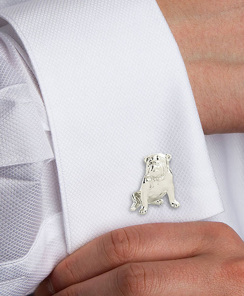 H95062502 | Sterling Silver Bulldog Cufflinks