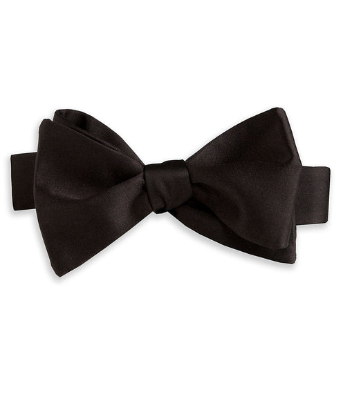 HT100001 | Black Satin Self-tie Bow Tie