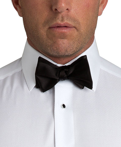 Black Satin Self-tie Bow Tie