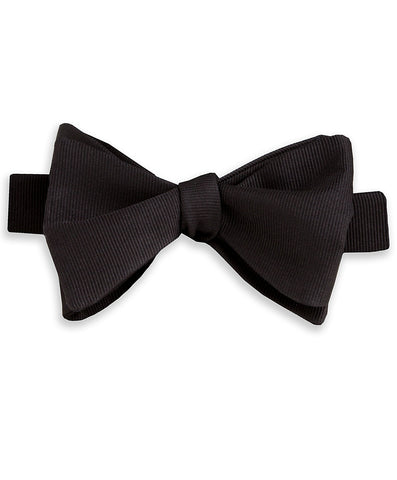 Black Faille Self-tie Bow Tie