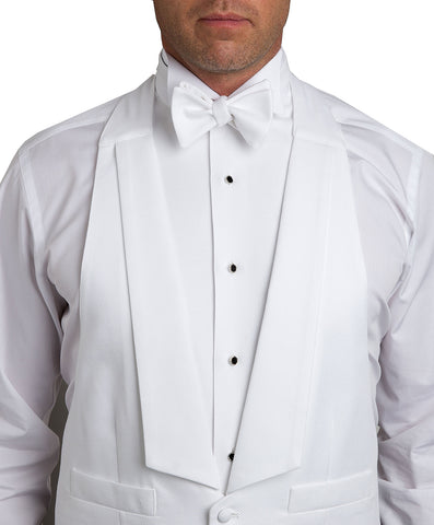 White Pique Self-tie Bow Tie