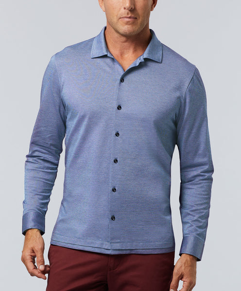 Mercerized Cotton Jacquard Polo