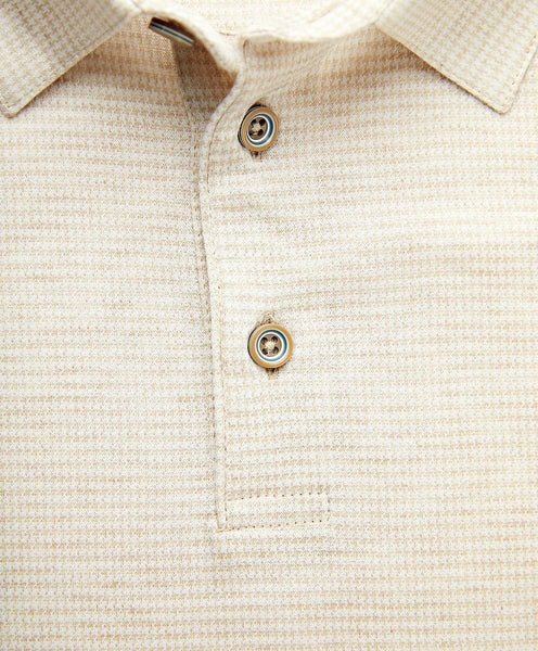 KSOPL1228292 | Mercerized Cotton Houndstooth Polo