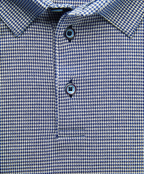 KSOPL1228412 | Mercerized Cotton Houndstooth Polo
