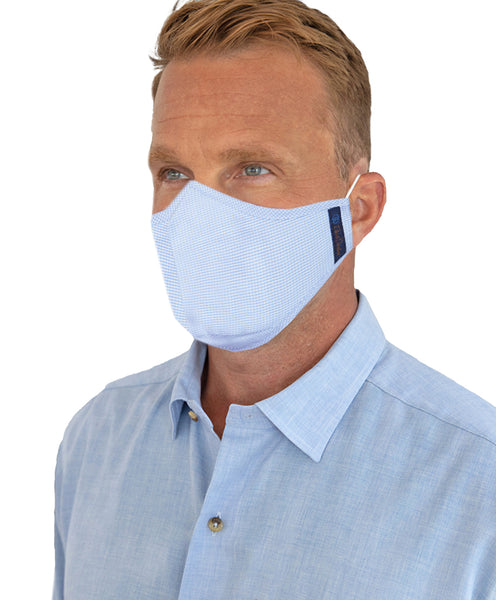 MASK01100999 | The Comfort Mask: Blue, White & Houndstooth 3-Pack