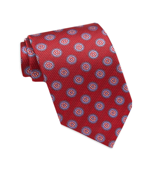 NTR01294600 | Red Circle Neat Tie