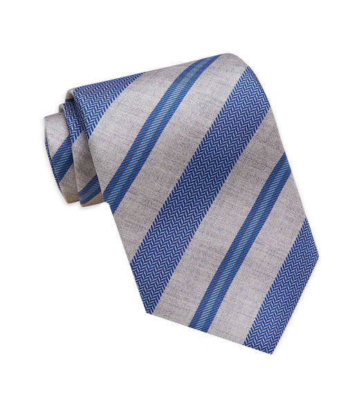 NTR01999412 | Navy & Gray Printed Stripe Tie