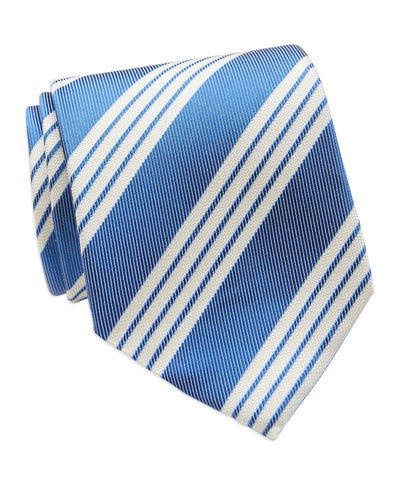 Silk & Cotton Textured Stipe Necktie