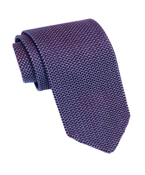 NTR2085615 | Merlot & Blue Knit Italian Silk Neck Tie