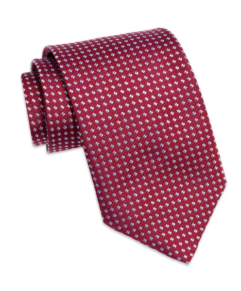 NTR2090615 | Red Micro Tic Silk Neck Tie