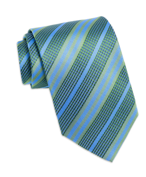 NTR2991312 | Hunter Green Multi-Striped Silk Neck Tie
