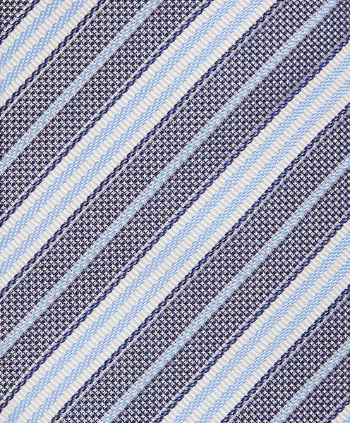 NTR3977412 | Navy & Sky Textured Stripe Tie