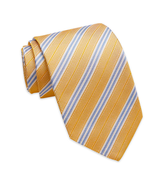 NTR3977710 | Gold & Sky Textured Stripe Tie