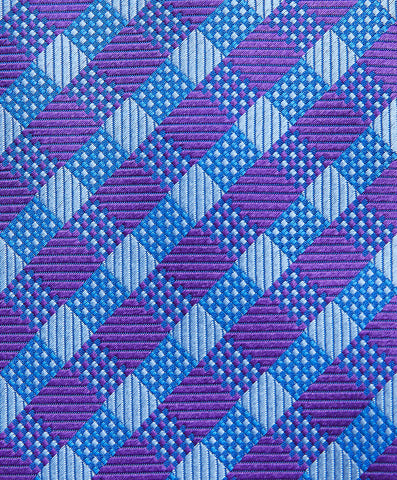 Purple Plaid Neck Tie