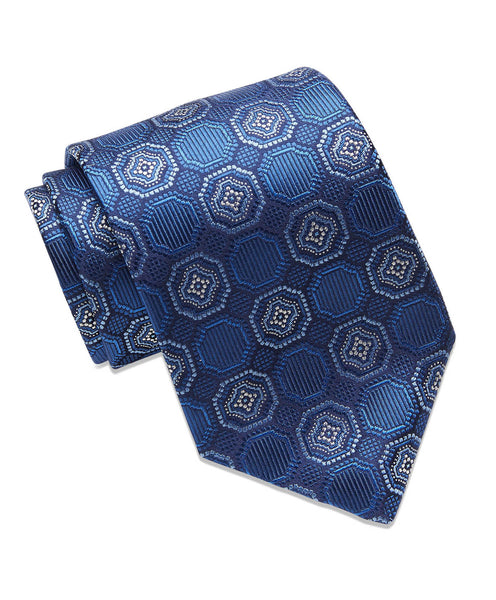 Blue Medallion Neck tie