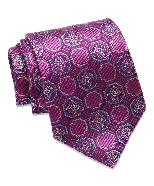 Berry Medallion Neck tie