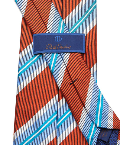 Pumpkin Houndstooth Striped Neck tie