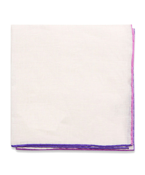 PS02198588 | Purple Multi Tone Hemmed Linen Pocket Square