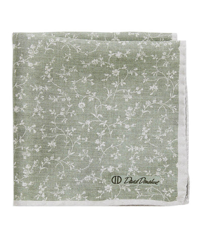 Double Face Vine Printed Pocket Square