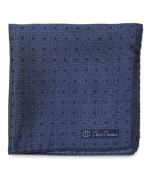 PS2391476 | Denim Micro Dot Print Pocket Square