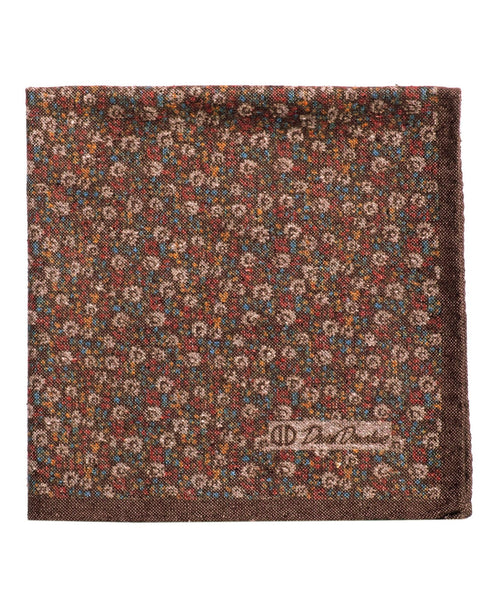 PS2496212 | Chocolate Floral Cotton-Blend Pocket Square