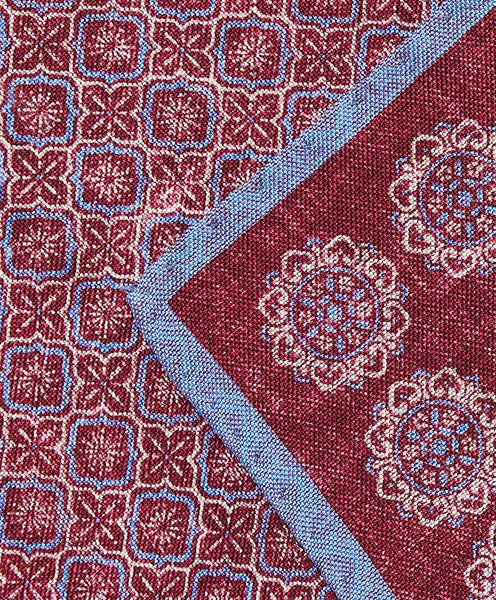 PS2789652 | Berry Medallion Silk Pocket Square