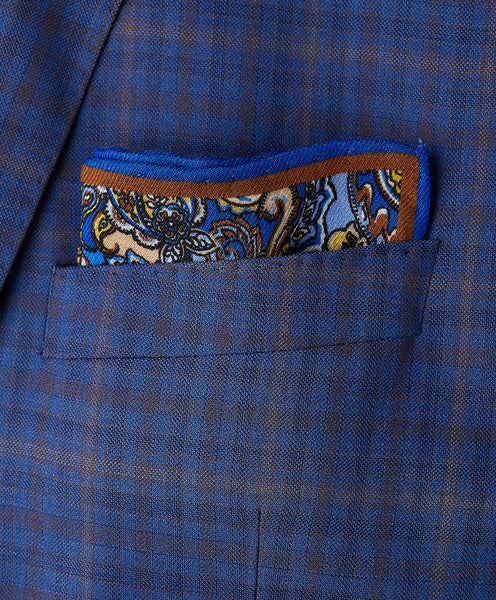 Chocolate Paisley Pocket Square
