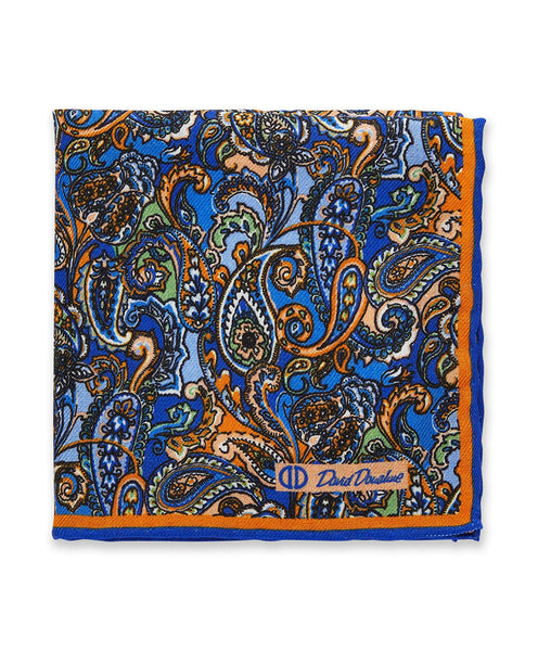 PS9536814 | Orange Paisley Pocket Square